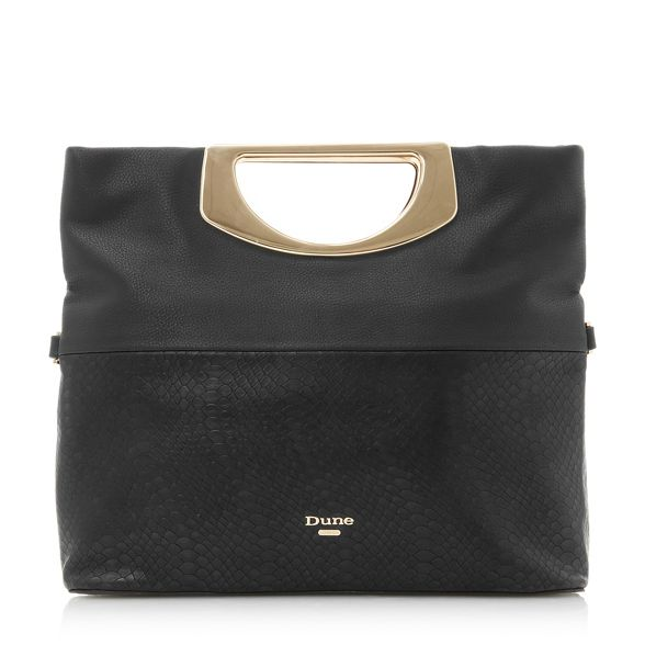 fold 'Electriic' textured Black clutch over Dune w64x5
