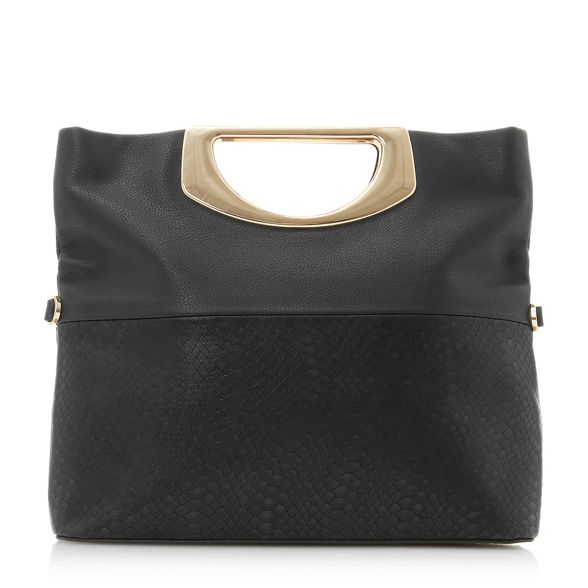 fold over Black clutch 'Electriic' Dune textured nAqRw0wxZ