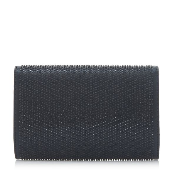 Dune detail 'Evaleen' Black bag diamante clutch HqrHF7
