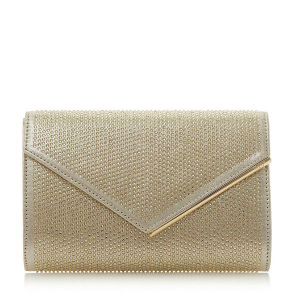 Gold Dune clutch bag 'Evaleen' detail diamante 1rwzndqfr