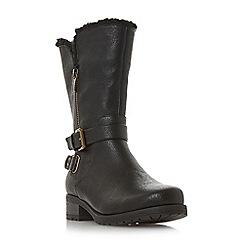 Head Over Heels by Dune - Black 'Raina' block heel calf boots