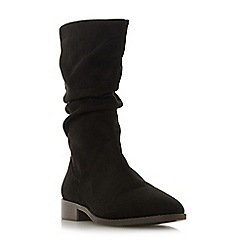 Head Over Heels by Dune - Black 'Reagan' block heel calf boots