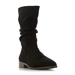 Head Over Heels by Dune - Black 'Reagan' block heel calf boots