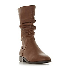Head Over Heels by Dune - TanReagan' block heel calf boots