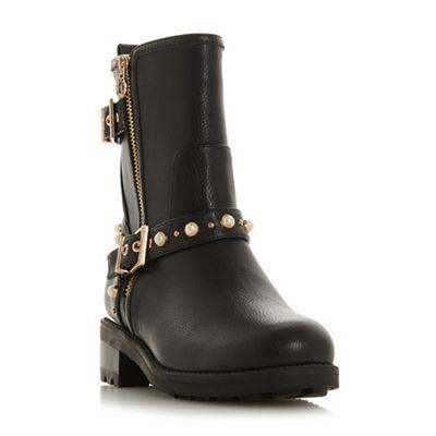 Head Over Heels by Dune - boots BlackRosheen' block heel biker boots - 758c72