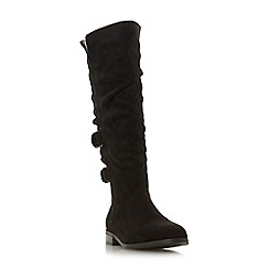 Head Over Heels by Dune - Black 'Tayte' knee high boots