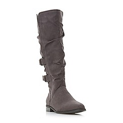 Head Over Heels by Dune - Grey 'Tayte' knee high boots