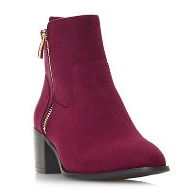 Head Over Maroon Heels by Dune - Maroon Over 'Patricia' mid block heel ankle boots 4bf432