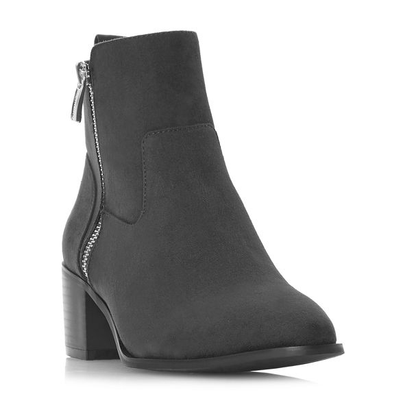 Heels heel Grey boots Head 'Patricia' mid block Over by ankle Dune qxwwF7f5a