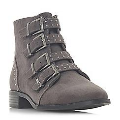 Head Over Heels by Dune - Grey 'Pamina' block heel ankle boots