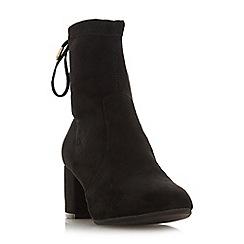 Head Over Heels by Dune - Black 'Oakley' mid block heel ankle boots