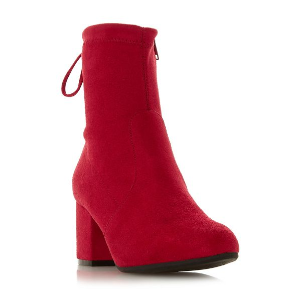 heel 'Oakley' Red by block ankle Dune Heels Head Over mid boots Pq8W8Ban