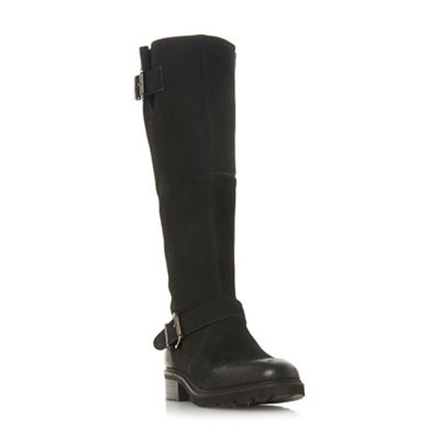 Steve Madden   Black Leather 'weden' Block Heel Knee High Boots by Steve Madden