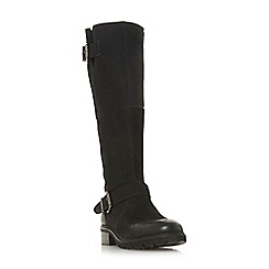 Steve Madden - Black leather 'Weden' block heel knee high boots