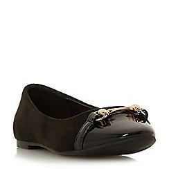 Head Over Heels by Dune - Black 'Hydee' ballet pumps