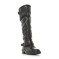 Dune - Black leather 'Torlie' knee high boots