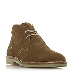 Dune - Tan 'Curry' suede desert boots
