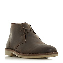 Dune - Brown 'Curry' suede desert boots