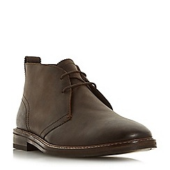 Dune - Brown 'Cech' lace up chukka boots