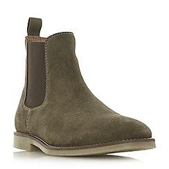 Dune - Khaki 'Calzaghe' desert Chelsea boots
