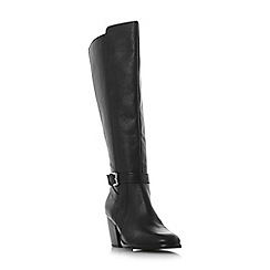 Roberto Vianni - Black leather 'Tavia' mid block heel knee high boots