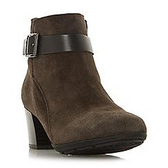 Roberto Vianni - Grey suede 'Peacan' mid block heel ankle boots