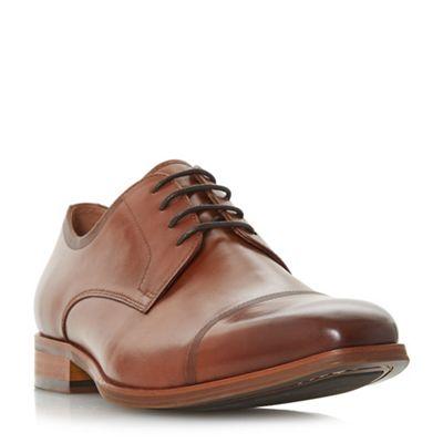 Dune - Tan 'Papyrus' toecap detail gibson shoes