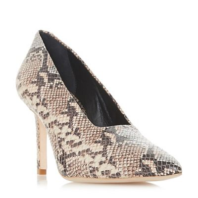 Dune Black - Multicoloured leather 'Arllows' mid stiletto heel court shoes
