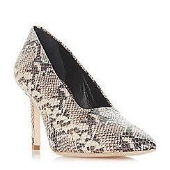 Dune Black - Multicoloured leather 'Arllows' mid stiletto heel court shoes