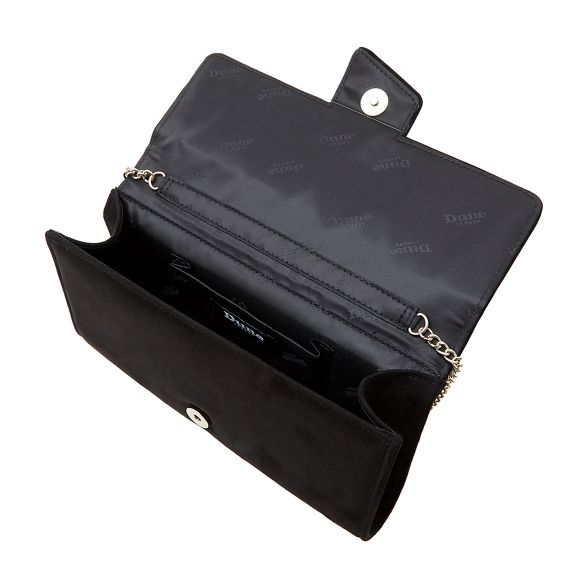 Dune bag Black foldover 'Biijou' clutch rS6rqTInwv
