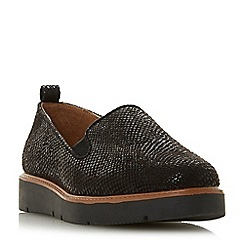 Head Over Heels by Dune - Black 'Gambles' loafers