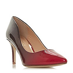 Head Over Heels by Dune - Red 'Aisla' mid kitten heel court shoes