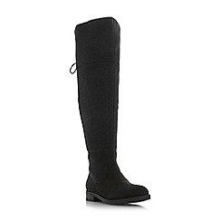 Head Over Heels by Dune - Black 'Tammii' block heel knee high boots