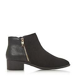 Head Over Heels by Dune - Black 'Pero' block heel ankle boots