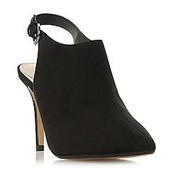 Head Over Heels by Dune - Black 'Calii' high stiletto heel slingback shoes