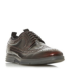 Dune - Dark red 'Beckford' high shine brogues