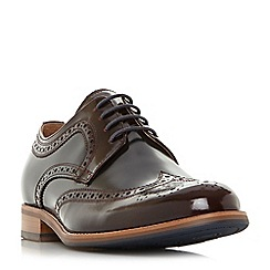 Dune - Dark red 'Radcliffe' derby brogue shoes