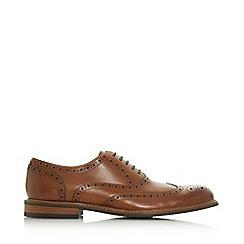 Dune - Tan 'Palladium' heavy brogue shoes