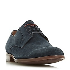 Dune - Navy 'Pena' suede gibson shoes