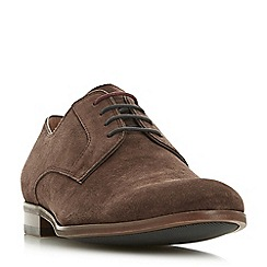 Dune - Brown 'Pena' suede gibson shoes