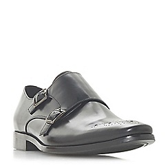 Dune - Black 'Pinch' monk strap shoes