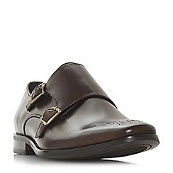 Dune - Brown 'Pinch' monk strap shoes