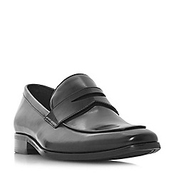 Dune - Black 'Predictable' chisel toe saddle loafers