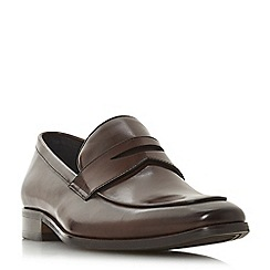Dune - Brown 'Predictable' chisel toe saddle loafers