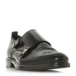 Dune - Black 'Principle' double buckle monk shoes