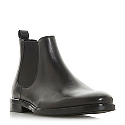 Dune - Black 'Mentors' metal heel Chelsea boots