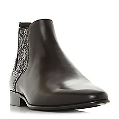 Dune - Black 'Mumford' paisley panel Chelsea boots