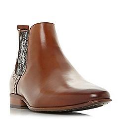 Dune - Tan 'Mumford' paisley panel Chelsea boots