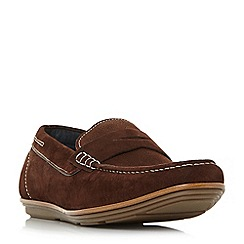 Dune - Brown 'Balloon' loafer shoes