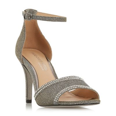 69a80d182af8 Head Over Heels by Dune - Silver Silver Silver  Mabel  mid stiletto heel  ankle